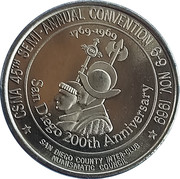 Token - California State Numismatic Association (45th Convention) – reverse