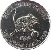 Mardi Gras Token - The Holy Cross School (New Orleans, Louisiana) – reverse