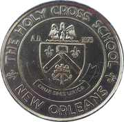 Mardi Gras Token - The Holy Cross School (New Orleans, Louisiana) – obverse
