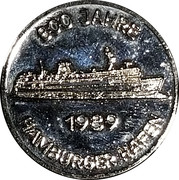 Token - Port of Hamburg (800th Anniversary) – obverse