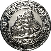 Token - Port of Hamburg (800th Anniversary) – reverse