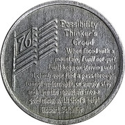 Token - Possibility Thinker's Creed – obverse