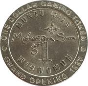 1 Dollar Gaming Token - Mohegan Sun (Grand Opening) – reverse