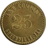 25 Cents - A & B Company – obverse