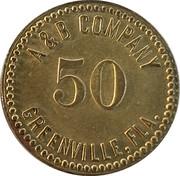 50 Cents - A & B Company – obverse