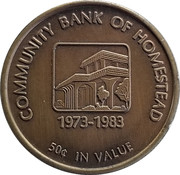 Token - Community Bank of Homestead – obverse