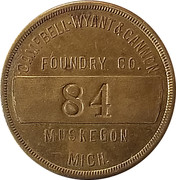 Token - Campbell Wyant & Cannon Foundry Co. – obverse
