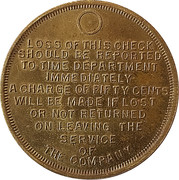 Token - Campbell Wyant & Cannon Foundry Co. – reverse