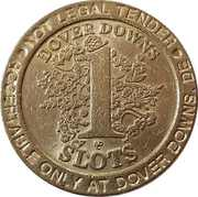 1 Dollar Gaming Token - Dover Downs – reverse