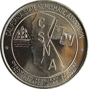 Token - California State Numismatic Association (44th Convention) – obverse