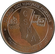 Token - California State Numismatic Association (47th Convention) – obverse