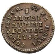 Coin weights - Stanisław August Poniatowski (Ducat) – reverse