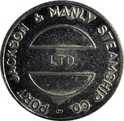 Ferry Token - Port Jackson & Manly Steamship Co. (30 mm) – obverse