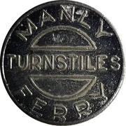 Ferry Token - Port Jackson & Manly Steamship Co. (30 mm) – reverse