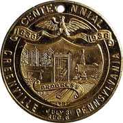 Token - Greenville Pennsylvania Centennial – obverse