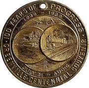 Token - Greenville Pennsylvania Centennial – reverse