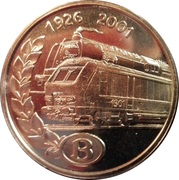 Token - 75th Anniversary of SNCB – obverse