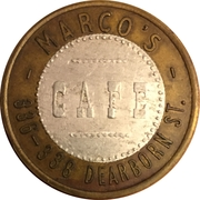1 Dollar - Marco's Cafe (Chicago, IL) – obverse