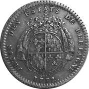 Token - Louis XV (Bretagne; Rennes) – reverse