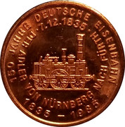 Token - 150 years of German Railroads (Pfalz 1853) – reverse