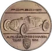 Token - Porsche (Auto-Union-P-Rennwagen Typ22 1934) – obverse