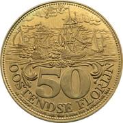 50 Oostendse Florijn (Attack of Ostend 1706) – reverse