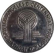 Birthday Dollar - Los Angeles Bicentennial (Year-round sports paradise) – reverse