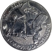 Birthday Dollar - Los Angeles Bicentennial (Year-round sports paradise) – obverse