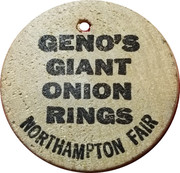 Wooden Nickel - Geno's Giant Onion Rings – obverse