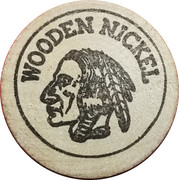 Wooden Nickel - The Great American Toy Company (Cerritos, CA.) – reverse