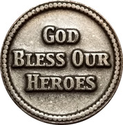 Token - Marines Corps (God bless our heroes) – reverse