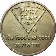 Token - Peter Piper Pizza – reverse