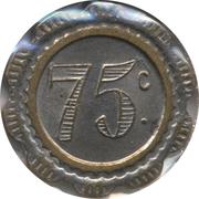 75 Centimes - JB – reverse