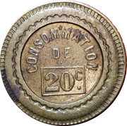 20 Centimes - Consommation (Eagle) – reverse
