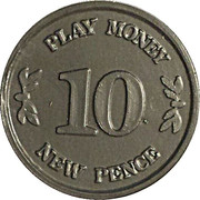 10 New Pence - Castle Bank (Play money) – reverse