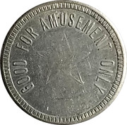 Token - Good For Amusement Only (Star) – obverse