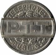 Telephone Token - Telephones Publics P.T.T (Copper-nickel) – reverse