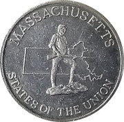 Token - Shell's States of the Union Coin Game, Version 2 (Massachusetts / West Virginia) – obverse