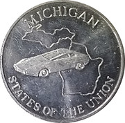 Token - Shell's States of the Union Coin Game, Version 2 (Michigan / Ohio) – obverse