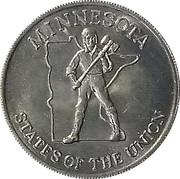 Token - Shell's States of the Union Coin Game, Version 2 (Minnesota / South Dakota) – obverse