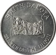 Token - Shell's States of the Union Coin Game, Version 2 (Minnesota / South Dakota) – reverse