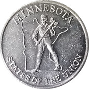 Token - Shell's States of the Union Coin Game, Version 2 (Minnesota / Virginia) – obverse