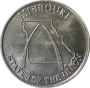 Token - Shell's States of the Union Coin Game, Version 2 (Missouri / South Carolina) – obverse