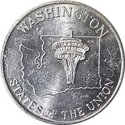 Token - Shell's States of the Union Coin Game, Version 2 (New Hampshire / Washington) – reverse