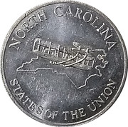Token - Shell's States of the Union Coin Game, Version 2 (North Carolina / Oregon) – obverse
