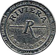 1 Dollar Gaming Token - Riviera Casino (Las Vegas, Nevada) – obverse