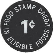 1 Cent - Food Stamp Credit (Thornberg's Super valu) – reverse