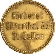 Token - Färberei Sitterthal AG (St. Gallen) – obverse