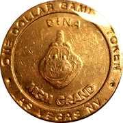 1 Dollar Gaming Token - MGM Grand (Las Vegas) – reverse