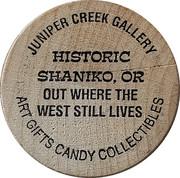 Wooden Nickel - Juniper Creek Gallery – obverse